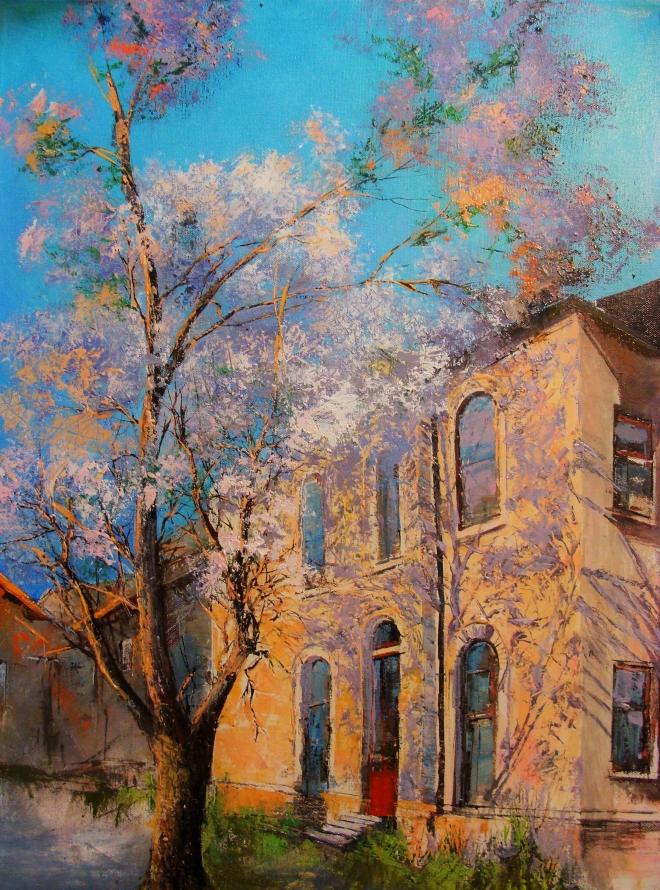Картина маслом на холсте Весенний денёк