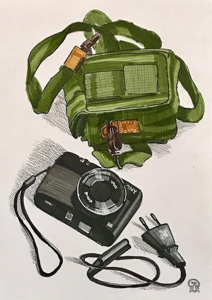 Картина Фотоаппарат. Скетч.