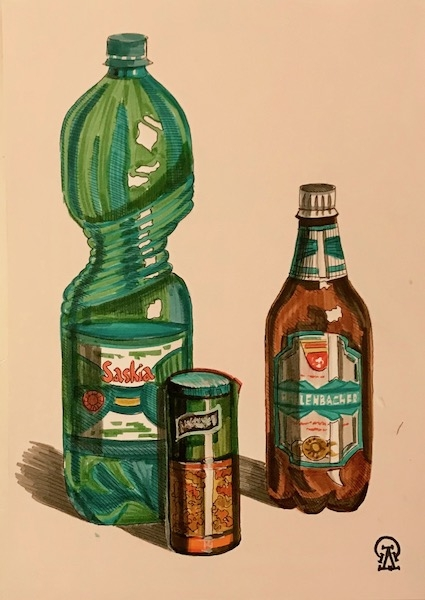 Картина Пиво-воды. Скетч.