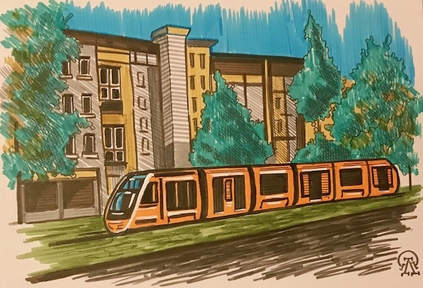 Картина Фрайбургский трамвайчик. Скетч.