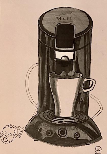 Кофеварка. Скетч.