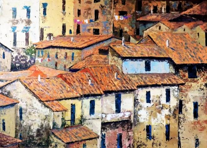 Картина маслом Крыши Тосканы