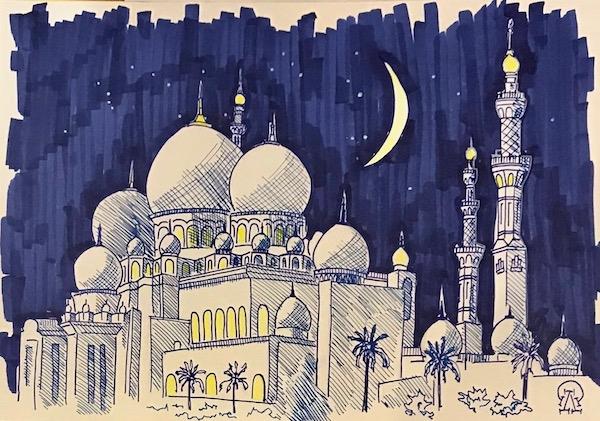 Мечеть. Скетч.