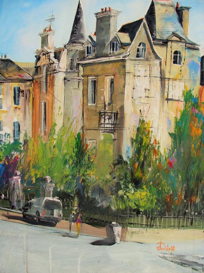 Картина маслом на холсте Французский Сам-Лю