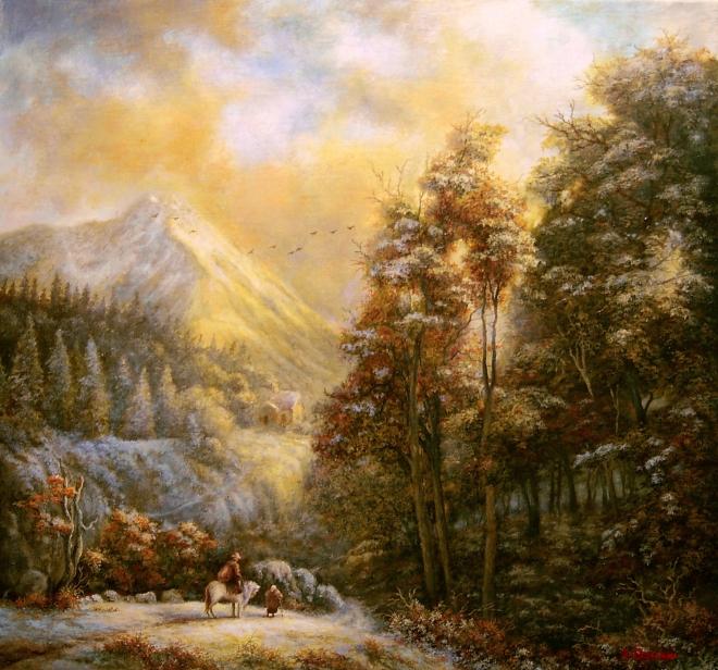 Картина маслом на холсте Calando