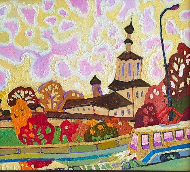 Картина маслом на холсте Старая Москва
