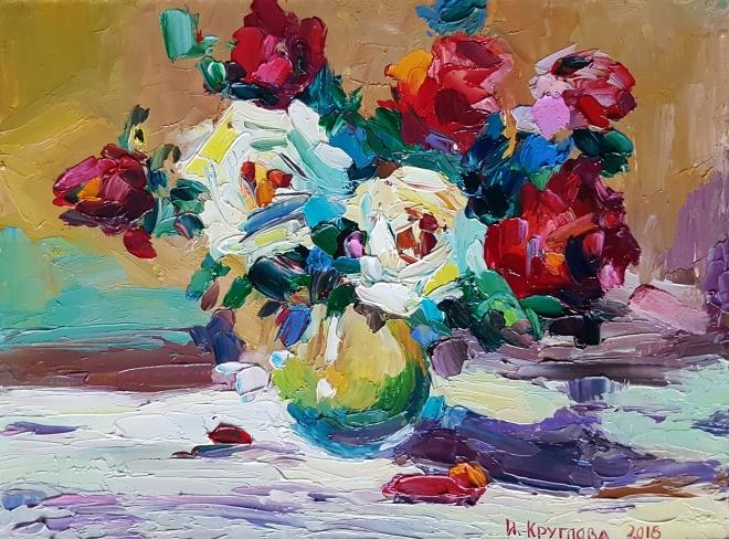 Картина маслом Розовое фламенко