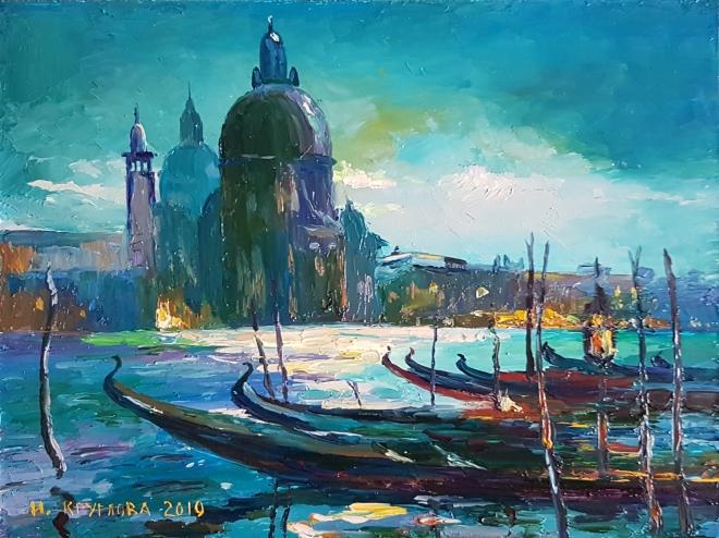 Картина маслом Гран-канал в Венеции