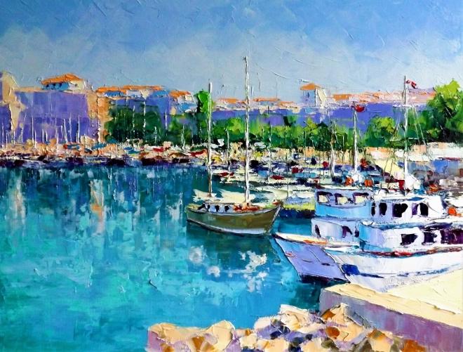 Картина маслом Солнечный день в порту