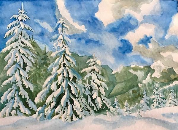 Ели под снегом.