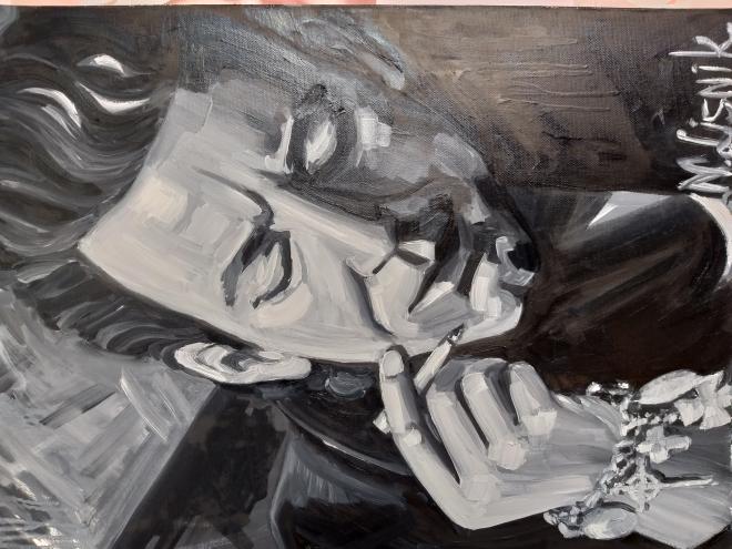 Картина маслом на холсте Микки Рурк