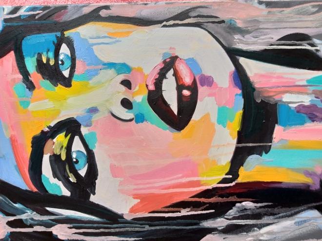 Картина маслом на холсте Девушка в цвете