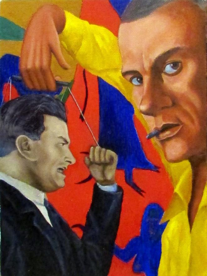 "Картина маслом ""Жёлтая кофта"""