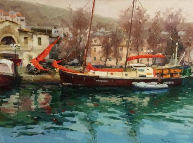 Картина маслом Балаклава - Крым