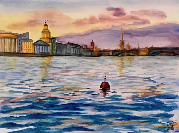 Картина акварелью Буй
