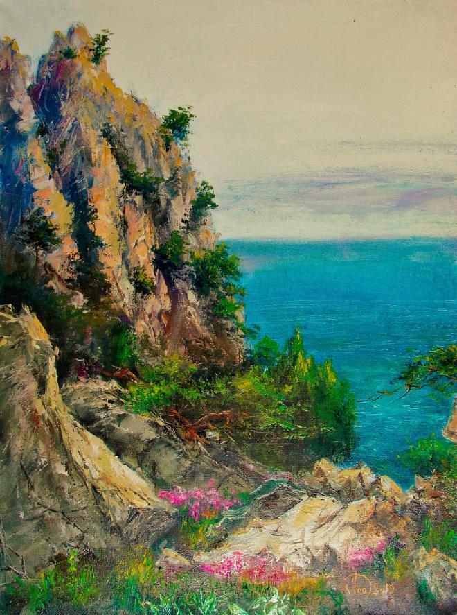 Картина маслом на холсте Южный берег Крыма