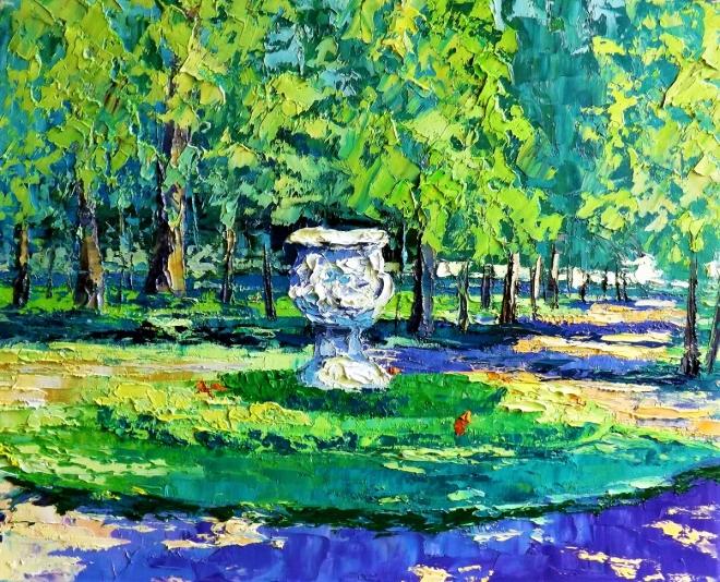 Картина маслом Солнечный день в парке