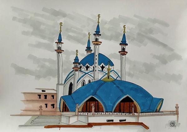 Синяя мечеть. Скетч.