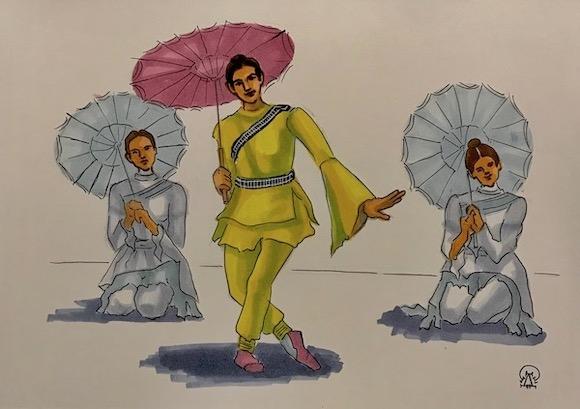 Картина Танцоры. Скетч.