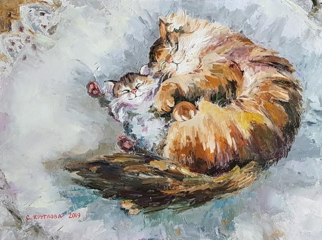 Картина маслом Послеполуденный сон