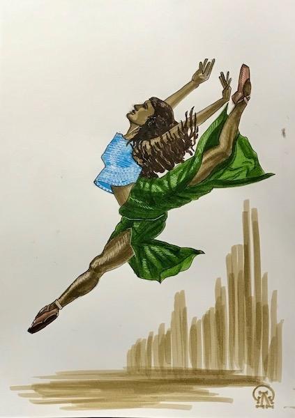 Балерина. Скетч.