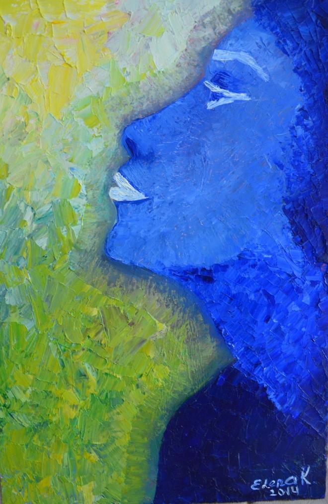 Девушка в синие