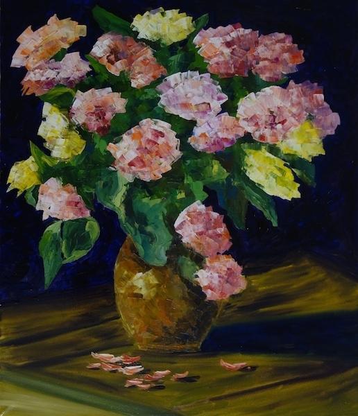 Картина маслом Букет роз