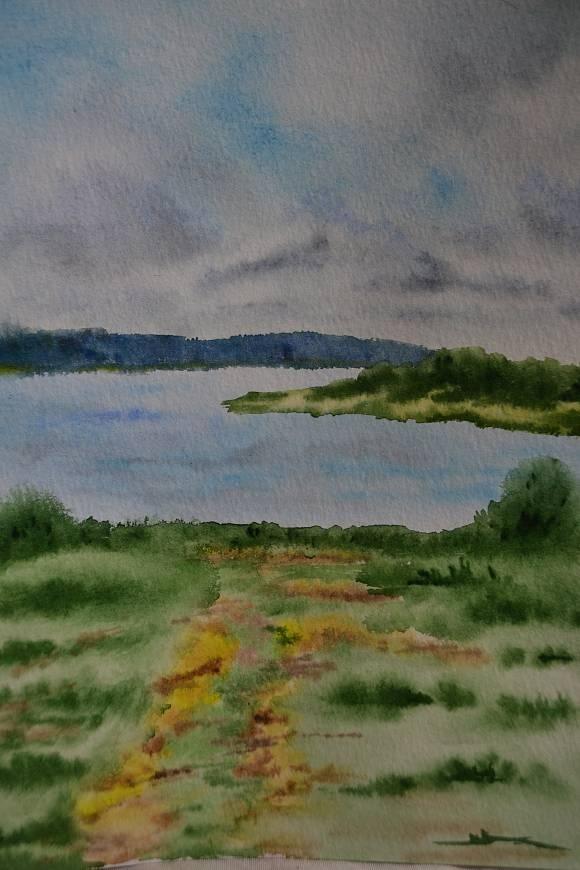 Озеро Кучане в Пушкинских горах