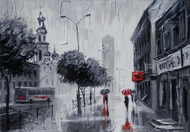 Дождь в Екатеринбурге. (Улица Малышева)