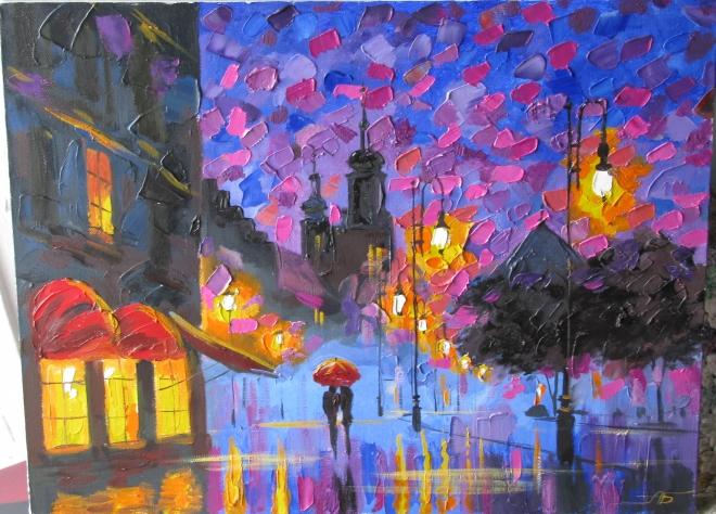 Фиолетовый вечер