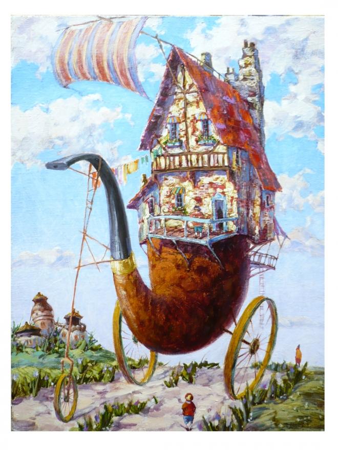 Дом из трубы