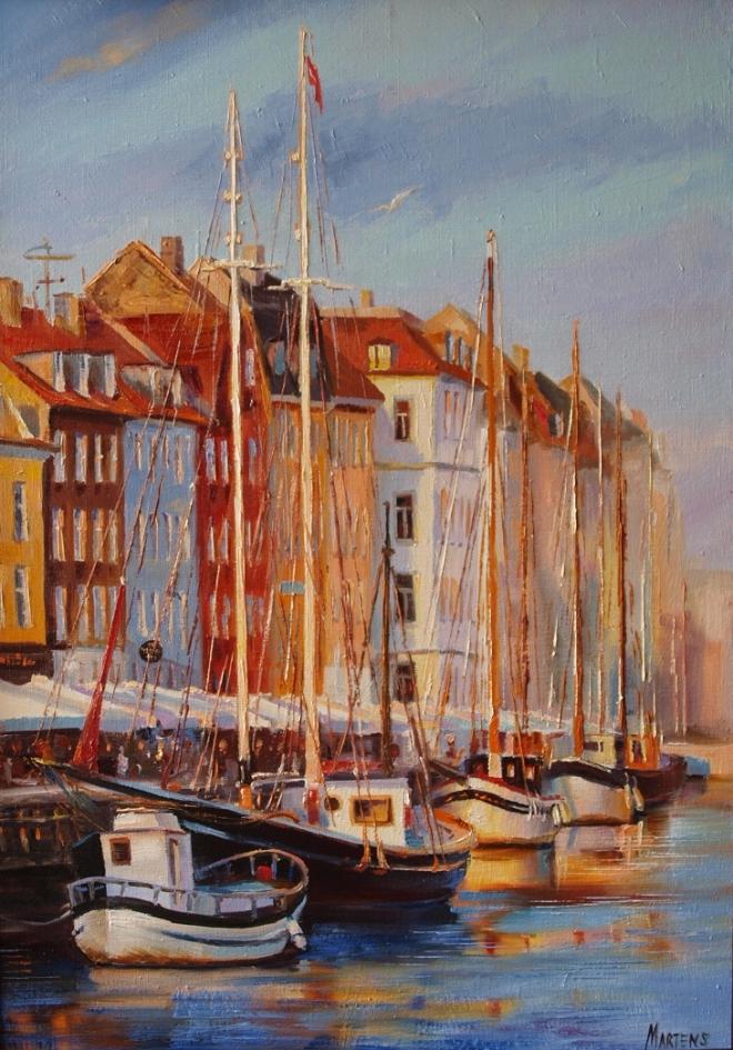 Картина маслом Копенгаген