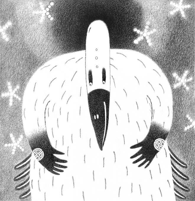 Белый ворон под чёрной дырой