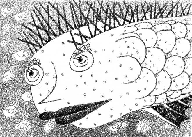 Шипастая рыба