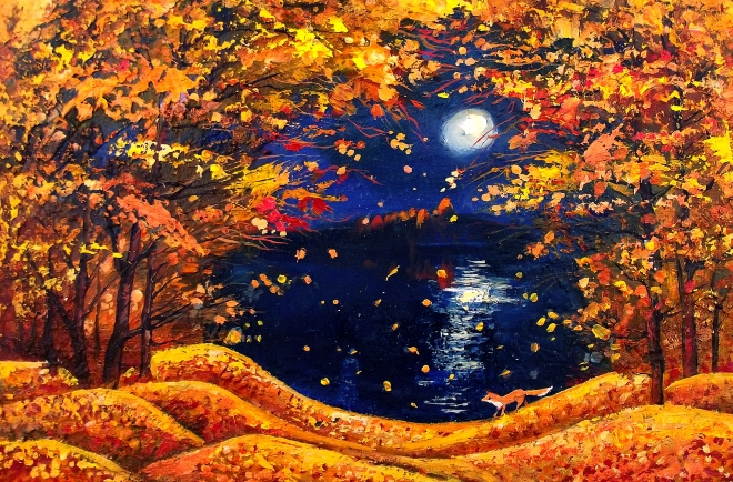 Картина маслом Лисичка