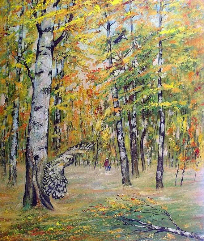 Картина маслом В лесу