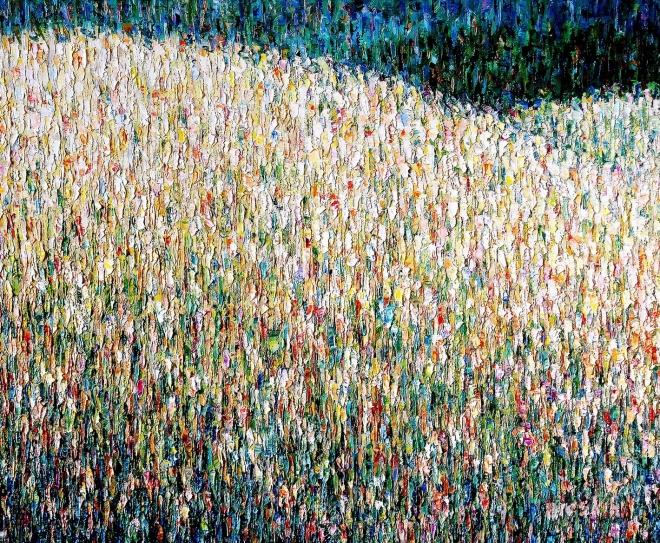 Картина маслом Запах горных цветов