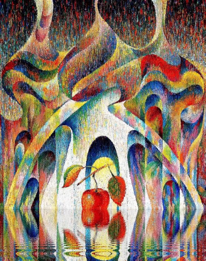 Картина маслом на холсте Яблоко