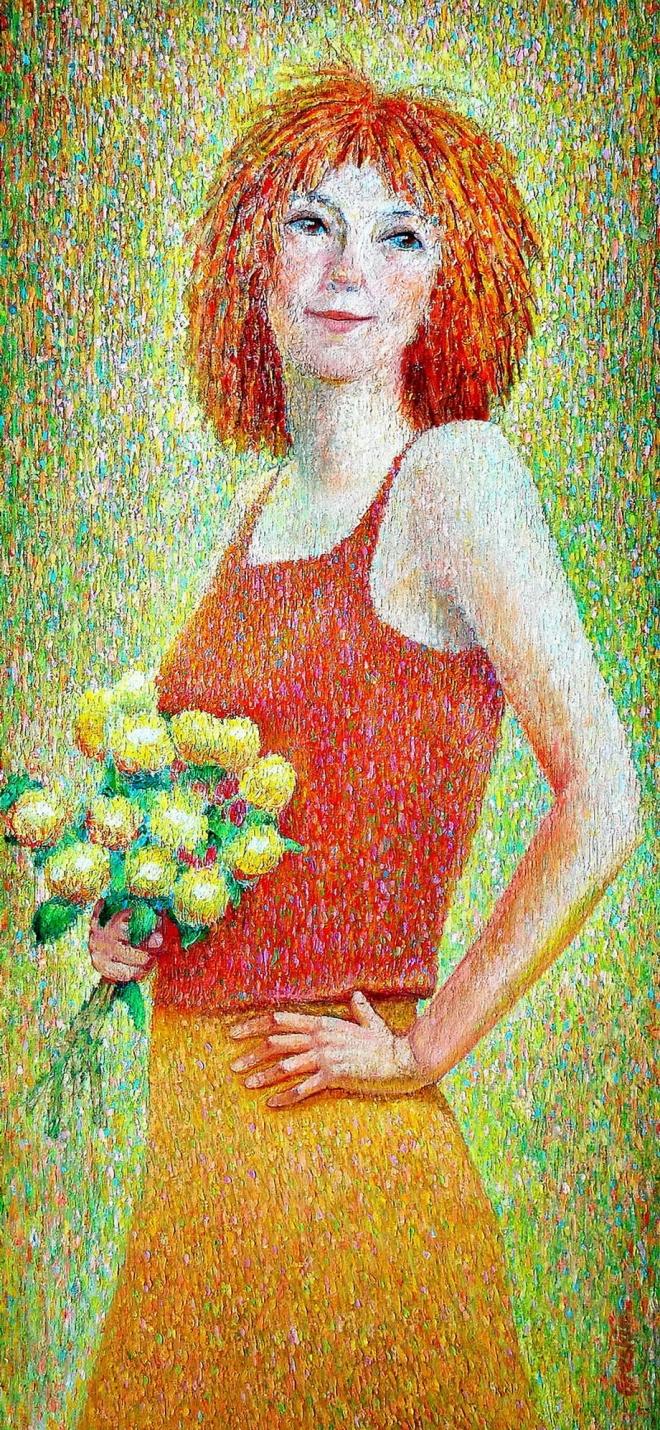 Картина маслом на холсте Рыжая юность
