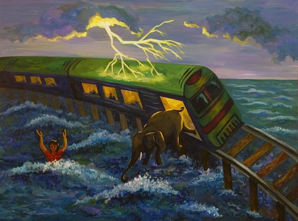 Картина Сон. Крушение поезда.