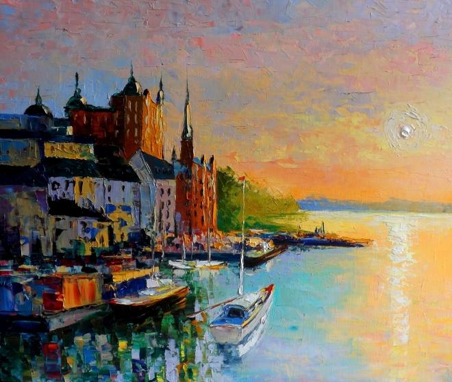 Рассвет над Стокгольмом