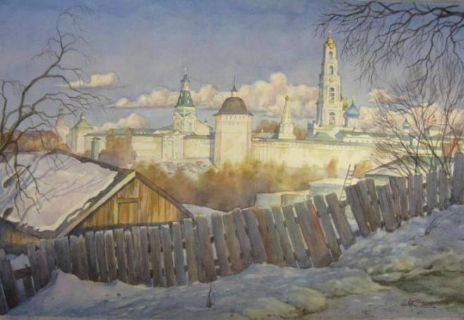 Мартовский вечер в Сергиевом Посаде