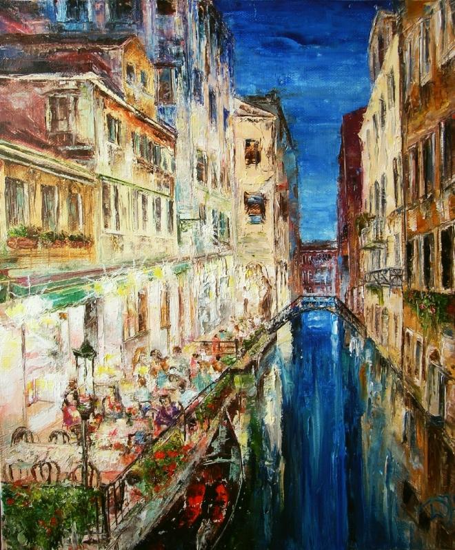Картина маслом на холсте Венеция. Полночь