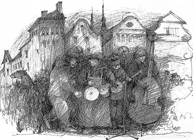 Картина Пражский джаз.