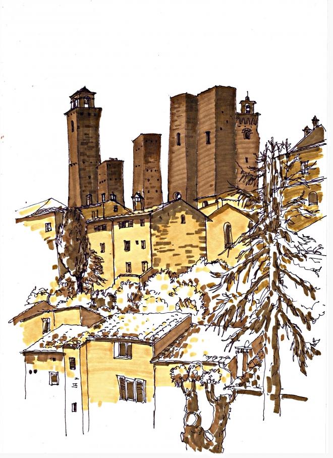 Картина Сан-Джиминьяно.