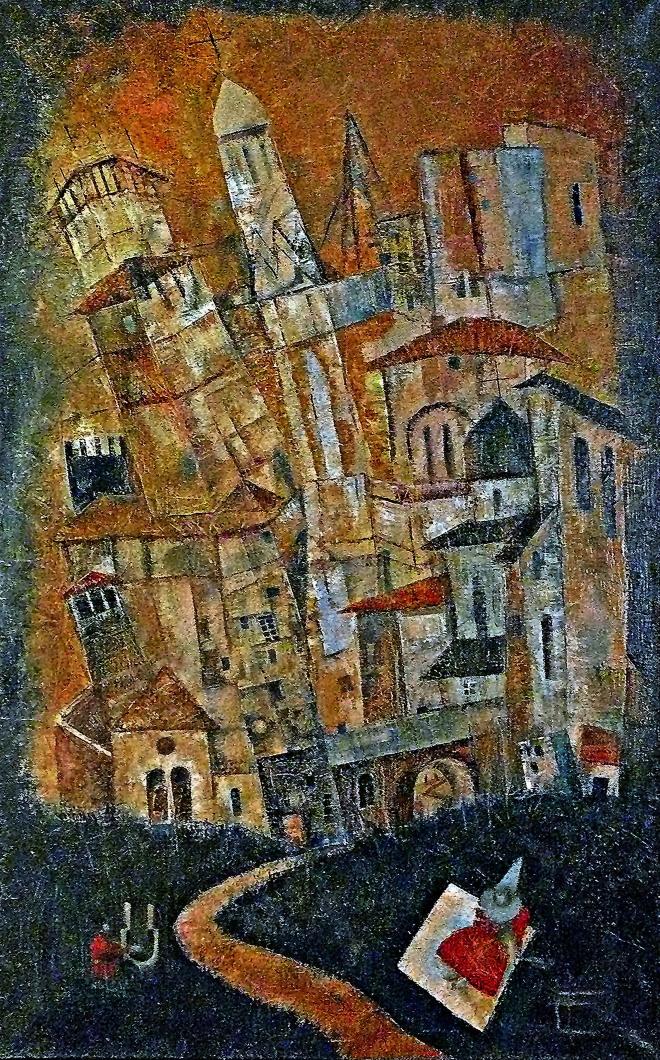 Картина маслом на холсте Вавилонская башня.