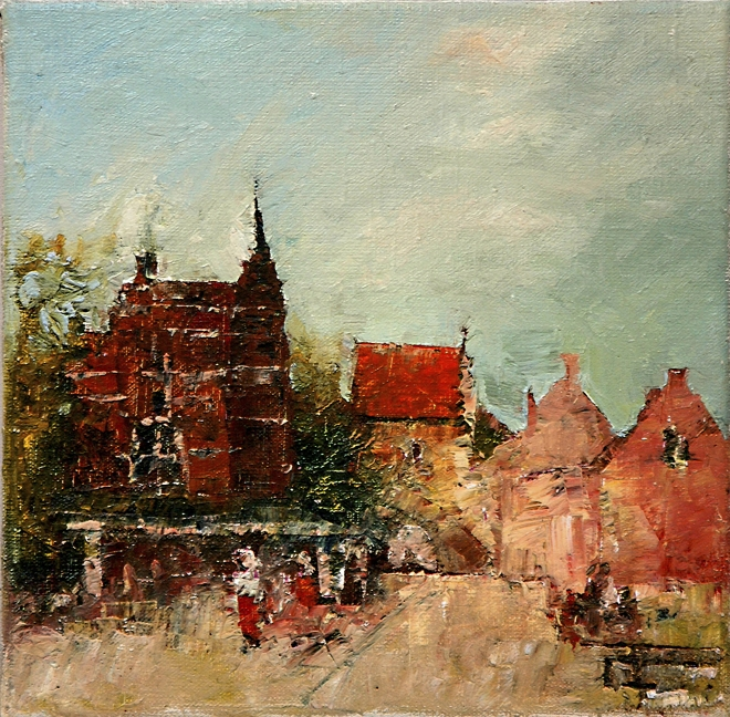 Картина маслом на холсте Голландский пейзаж.