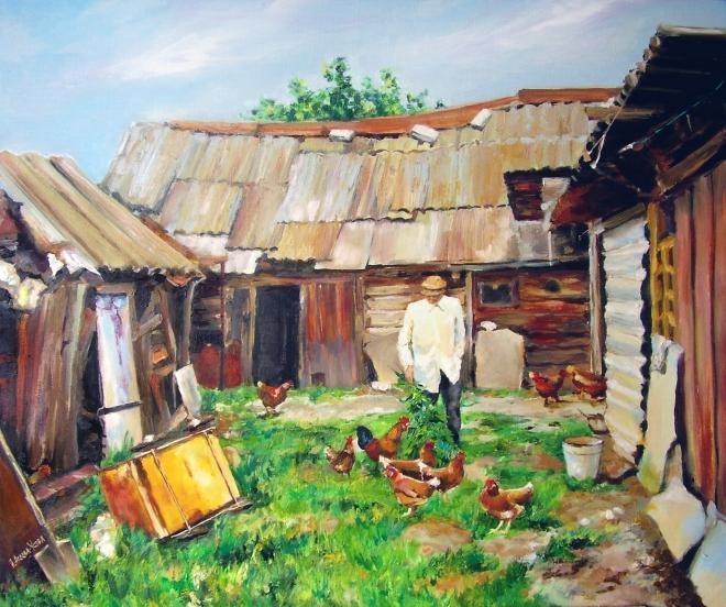Картина маслом на холсте Россия уходящая