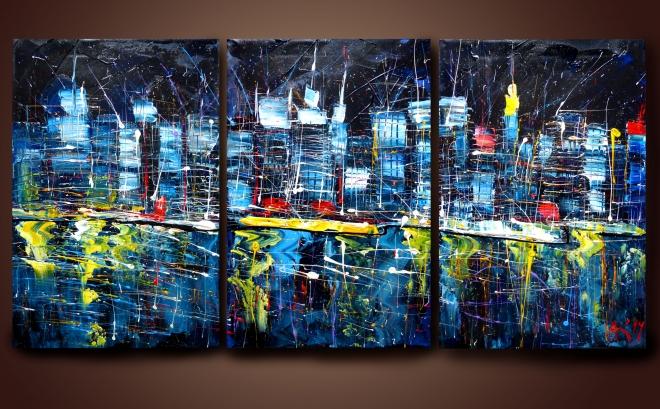 Картина на холсте Ночной город