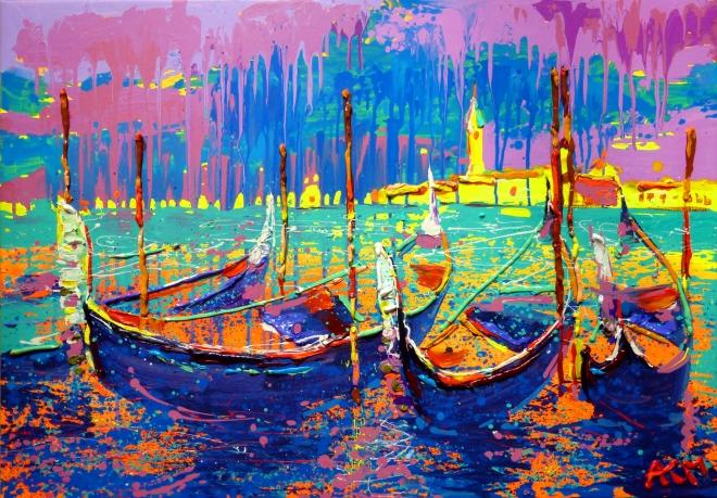 Картина маслом на холсте Венеция